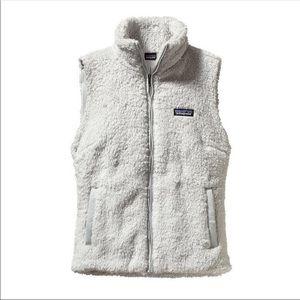 patagonia los gatos faux fur grey vest size m